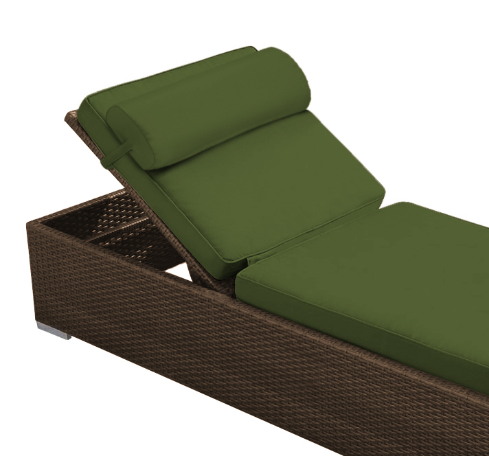 Chaise with headrest