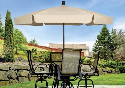 Garden Umbrella in-table close up